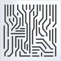 Artnovion Azteka W Absorber L01 White Set de 8 pièces