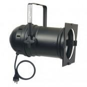 Showtec Projecteur Par-64 Long noir avec socle PAR-Safe & câble